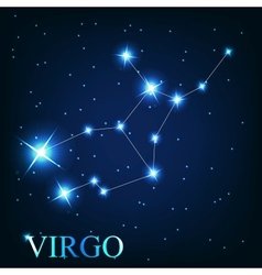 the virgo zodiac sign of the beautiful bright vector image
