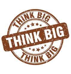 Think big stamp vector