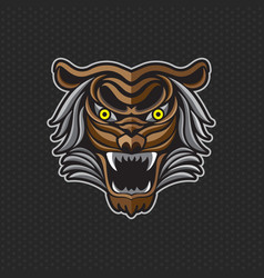 Tiger anger a tiger head vector