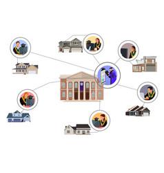 Virtual online graduation ceremony vector