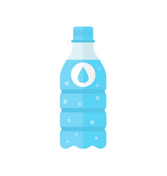 water bottle icon in flat style bottle on white vector image