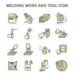 Welding work and tools such as vector