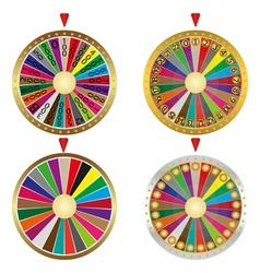 Wheel fortune set vector