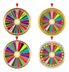 Wheel of fortune set vector image