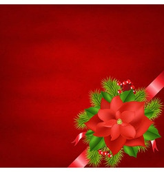 Winter Flower With Red Background vector