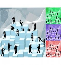 building blocks busniess concept illustration vector image