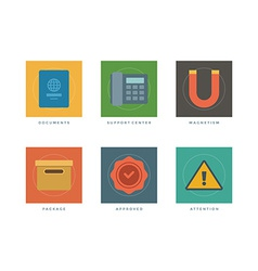 Flat infographic design elements vector image vector image
