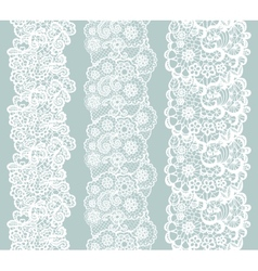 Lacy vintage trim Set of white lacy vintage vector image vector image