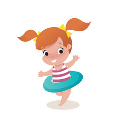 little girl child vector image vector image