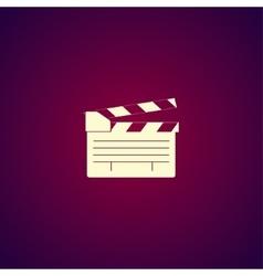 Movie clapper board movie maker vector image