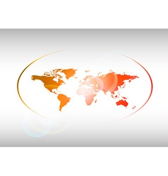 Red World vector image