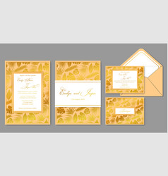 wedding invite envelope rsvp holiday card vector image vector image