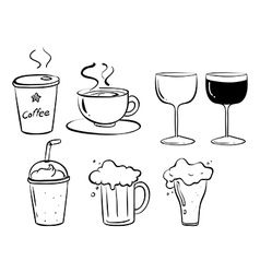 Different kinds of drinks vector image