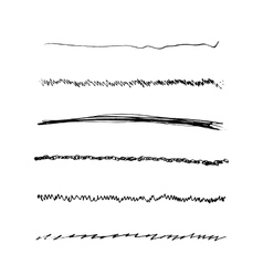 Handdrawn Brushes Set vector image vector image