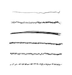 Handdrawn Brushes Set vector image