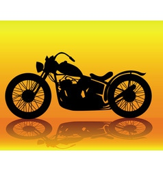 old motorcycle vector image vector image