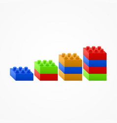 plastic building blocks chart vector image vector image