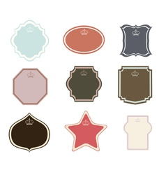 Set of frames and labels vector image