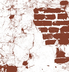 Brickwork brick wall of an old house brown and vector image