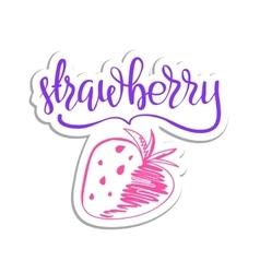 eco friendly strawberry concept - design vector image vector image