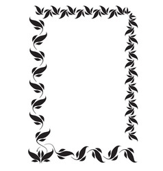 frame with folk floral ornaments vector image vector image