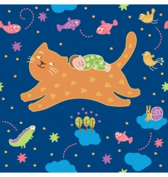 lullaby pattern vector image vector image