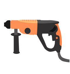 puncher icons in flat style vector image