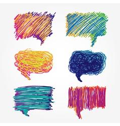 Colorful speech bubbles set vector image vector image