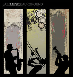 jazz music background set vector image