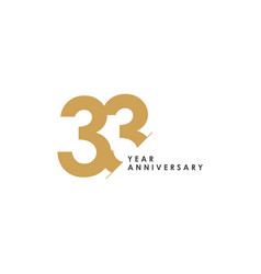 33 year anniversary template design vector