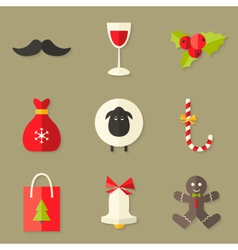 9 Christmas Icons Set 2 vector