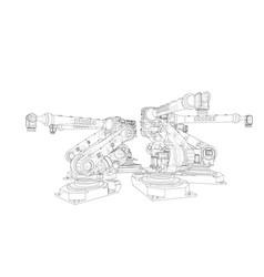 A industral robots manipulators vector