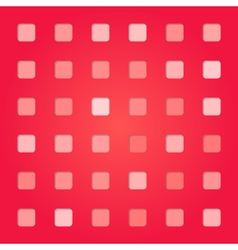 Abstract red pink square pattern vector