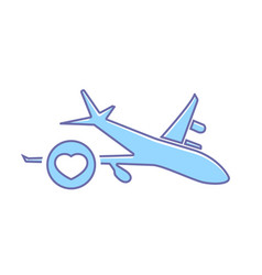 Airplane favorites flight plane transport travel vector