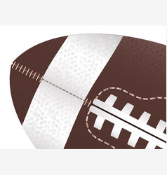 American football ball up close vector