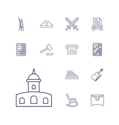 Antique icons vector