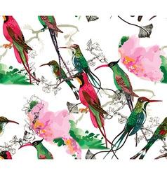 Artistic bird background vector