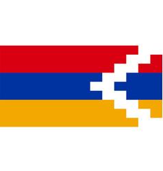 Artsakh flag vector