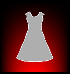 beautiful long dress vector image