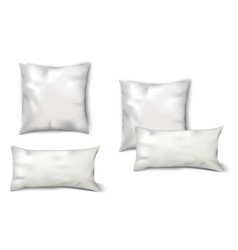 Blank White Pillows Set vector