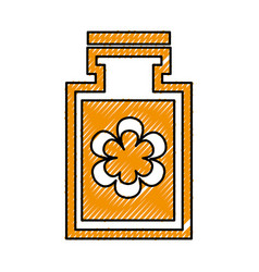 bottle with flower spa icon vector image
