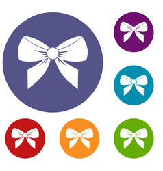 bow icons set vector image
