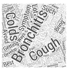 Bronchitis and pregnancy Word Cloud Concept vector