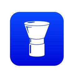 Brush powder icon blue vector