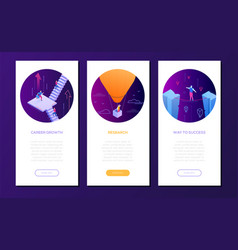 business concepts - set of isometric web banners vector image