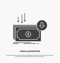 Business cost cut expense finance money icon vector