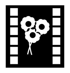 Camera film icon simple style vector image