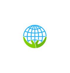 care globe logo icon design vector image