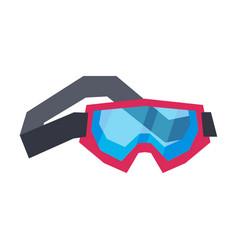 Classic snowboard or ski goggles winter sport vector