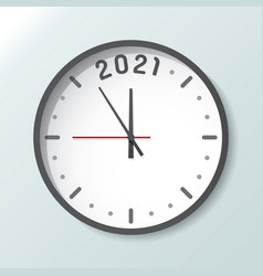 Clock isolated on background with copy space 2021 vector